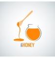 honey jar pot glass background vector image