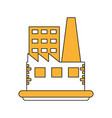 industrial factories buildings vector image