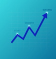 line graph on grid vector image