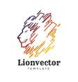 lion shield logo design template head logo vector image