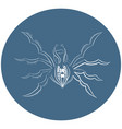 logo spider in the circle vector image vector image
