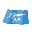 map of the world with airplane set three vector image