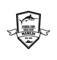 marlin fishing trip emblem template with marlin vector image