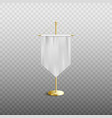 medieval white silk pennant hanging on vertical vector image vector image