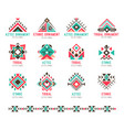 native tribal pattern set vector image vector image