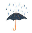 open umbrellas with polka dots and rain isolated vector image vector image