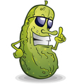 Pickle Cartoon With Attitude vector image vector image