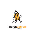 quick design vector image vector image