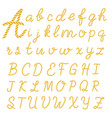 rope font set alphabet letters made from vector image vector image
