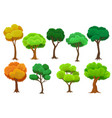 seasonal trees set summer and autumn trees vector image