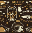 set coffee seamless pattern or background vector image