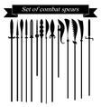 Set of silhouettes combat copies vector image