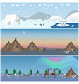 set of wild north landscape posters in flat vector image vector image