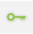 simple green icon - key vector image vector image