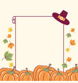 thanksgiving background with seasonal pumpkins vector image vector image
