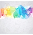 triangular style abstract background of triangles vector image vector image