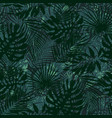 tropical leaves grunge wallpaper vector image vector image
