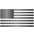 usa grayscale flag vector image vector image