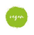 vegan eco fresh bio raw organic green design vector image vector image