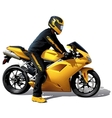 Yellow Bike vector image vector image