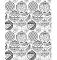seamless texture with black and white christmas vector image
