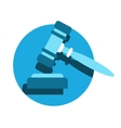 judge or auction hammer icon vector image