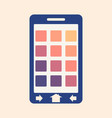 abstract phone screen vector image