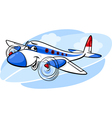 Air plane cartoon vector image