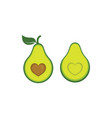 avocado icon design vector image