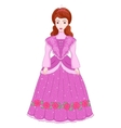 beautiful brunette princess in vector image