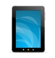 Black tablet like Ipade on white background vector image vector image
