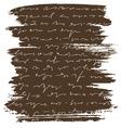 brush letter vector image vector image