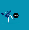 businesswoman kicking stress concept business vector image