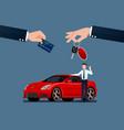 car dealers make an exchange sale rent vector image vector image