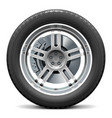Car Wheel with Disk Brake vector image vector image