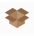 cardboard box waste flat concept vector image vector image
