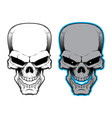 cartoon skull poison symbol vector image