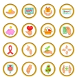 Charity organization set cartoon style vector image vector image