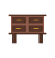 chest of drawers icon vector image vector image