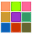 color frame backgrounds vector image vector image