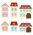 colored houses private mansions vector image