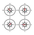 compass icon set design black set vector image vector image