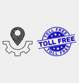 dotted service map marker icon and vector image vector image
