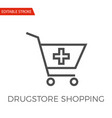 drugstore shopping icon vector image vector image