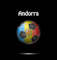 flag of andorra in the form of a soccer ball vector image