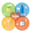 Flat stylish banners set Medicine vector image vector image