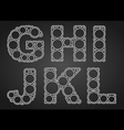 font design made circles in letters vector image
