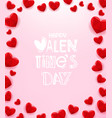 frame hearts with label template for a vector image