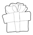 Gift box icon isometric 3d style vector image vector image