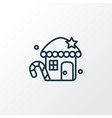 gingerbread house icon line symbol premium vector image